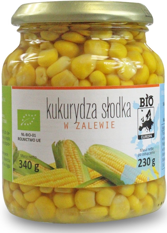 Bio Europa Kukurydza słodka w zalewie w słoiku BIO