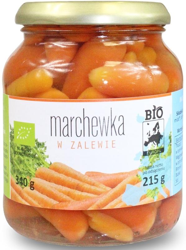 Bio Europe zanahorias en escabeche en un tarro