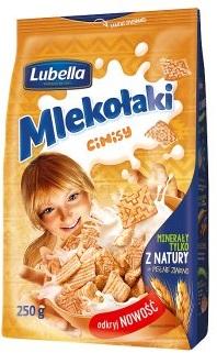 Lubella Mlekołaki Cinisy Zbożowe kwadraciki z cynamonem