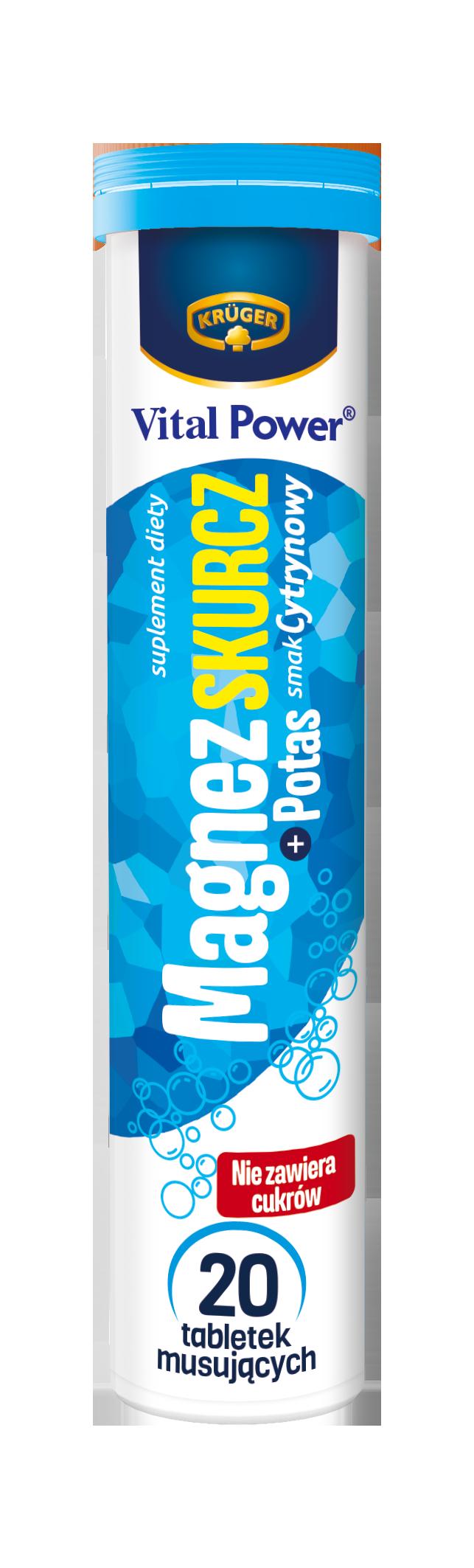 Krüger Magnesium Skurcz + шипучие калиевые таблетки со вкусом лимона