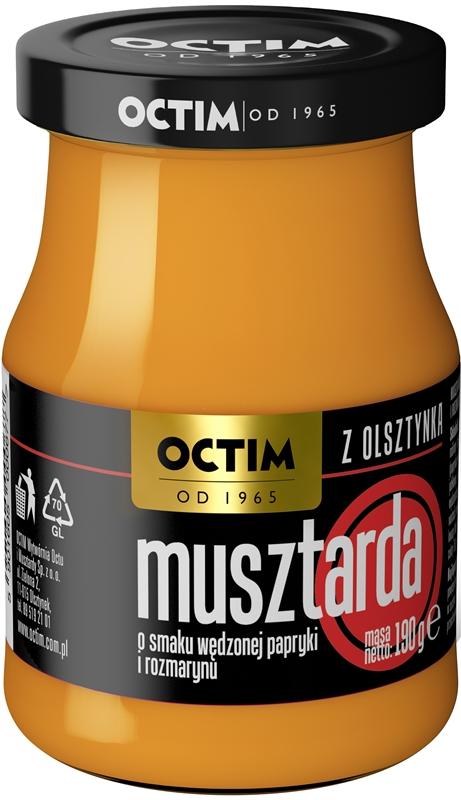 Octim Musztarda Mazurska o smaku wędzonej papryki i rozmarynu