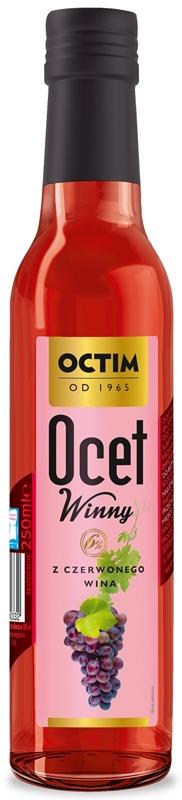 vinaigre Octim avec Olsztynka avec du vin rouge