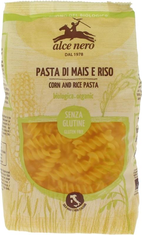 Alce Nero pasta de maíz y arroz sin gluten fusilli BIO libre