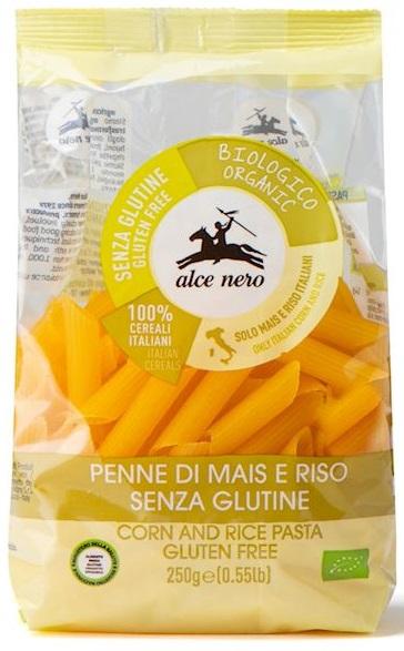 Alce Nero Pasta de maíz sin gluten BIO penne de arroz