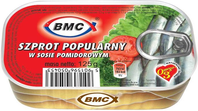 BMC beliebte Sprotte in Tomatensauce