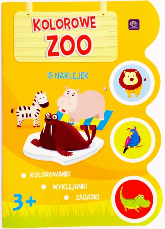 """libro para colorear con pegatinas Interdruk """"Zoo colorido"""""""