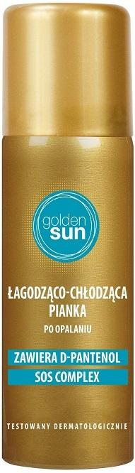 Golden Sun chłodząca pianka o właściwościach łagodzących podrażnienia po opalaniu