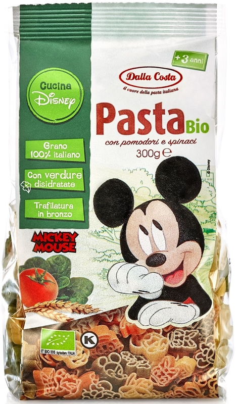 Dalla Costa Makaron semolinowy trójkolorowy Disney Mickey BIO