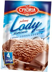 Cykoria Lody domowe  o smaku czekoladowym