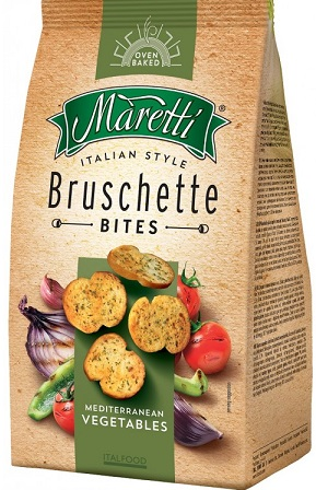 Bruschette Maretti crusty bread mix vegetables