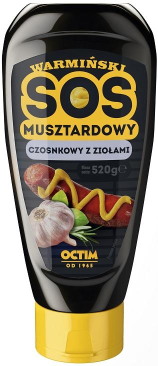 Octim Warmiński sos musztardowy czosnkowo-ziołowy
