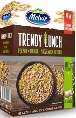 Melvit Trendy Lunch Mieszanka pęczak,bulgur,soczewica 4x100 g