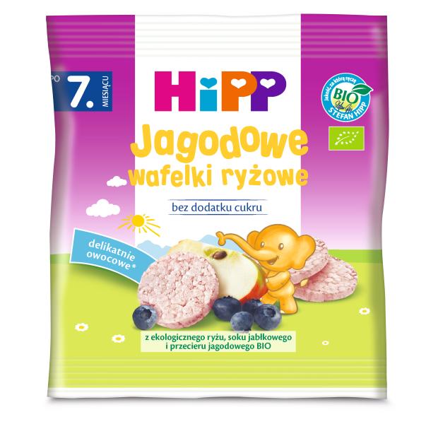 HiPP Jagodowe wafelki ryżowe BIO