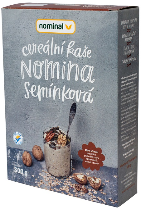 Nominal porridge instant cereal grains