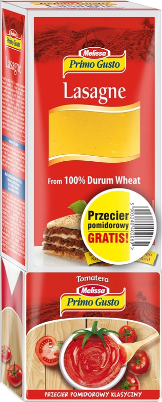 Melissa Primo Gusto Паста лазанья 100% дурум + томатное пюре 500 г бесплатно