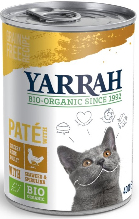 Yarrah Pasztet dla kota ze spiruliną i algami EKO