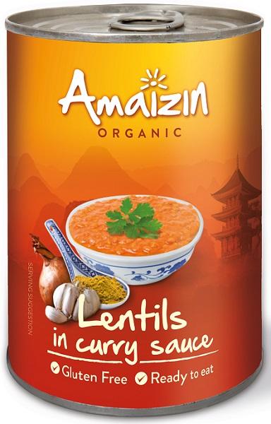 Amaizin Soczewica w sosie curry BIO