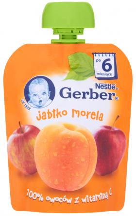 Gerber Deser w tubce jabłko morela