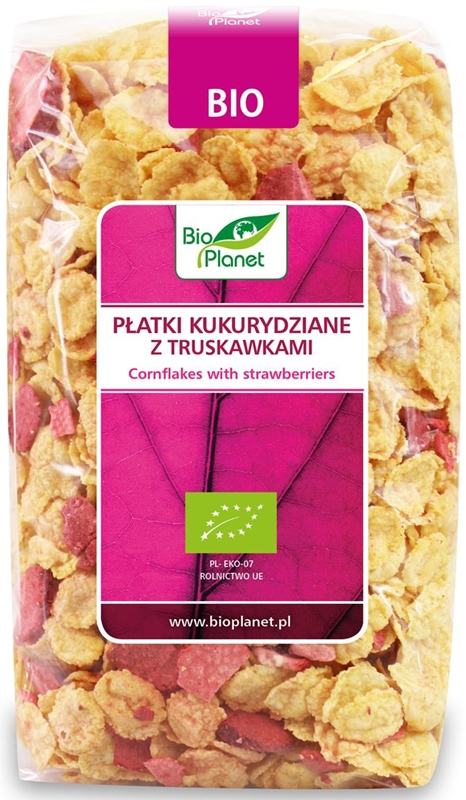 Bio Planet Płatki kukurydziane z truskawkami BIO