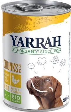 Yarrah Karma dla psa kawałki kurczaka z pokrzywą i pomidorem EKO