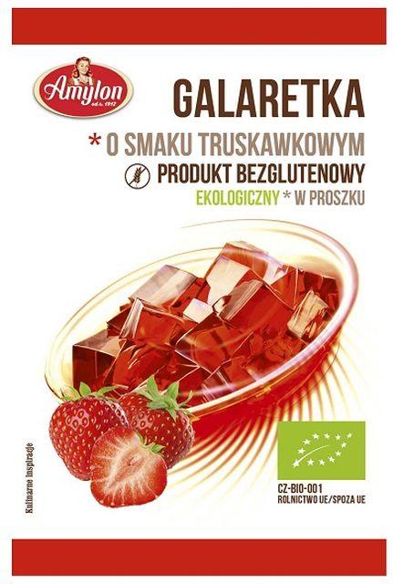 Amylon Galaretka o smaku truskawkowym bezglutenowa BIO