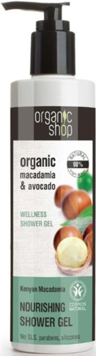 Organic Shop Żel pod prysznic kenijskie orzechy macadamia ECO