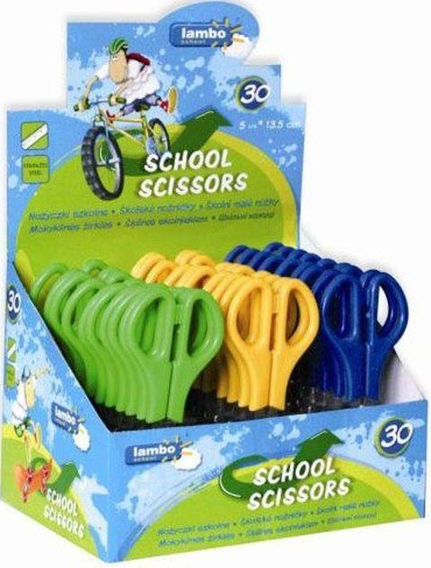 Lambo School Nożyczki szkolne z podziałką 13,5 cm