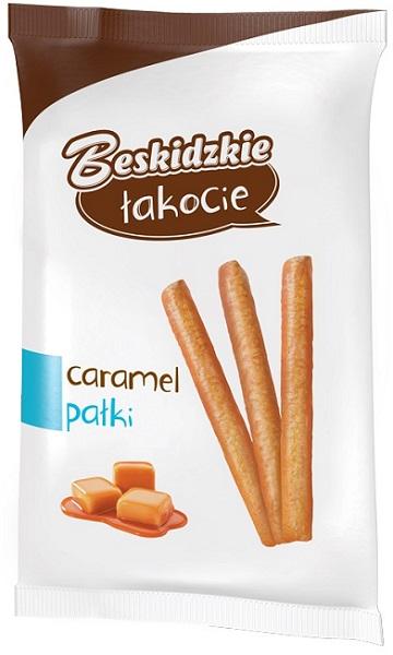 Aksam Beskidzkie łakocie Pałeczki kukurydziane w polewie o smaku karmelu carmel pałki