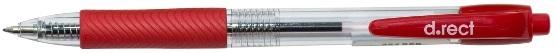 Office Długopis d.rect czerwony 0,7 mm