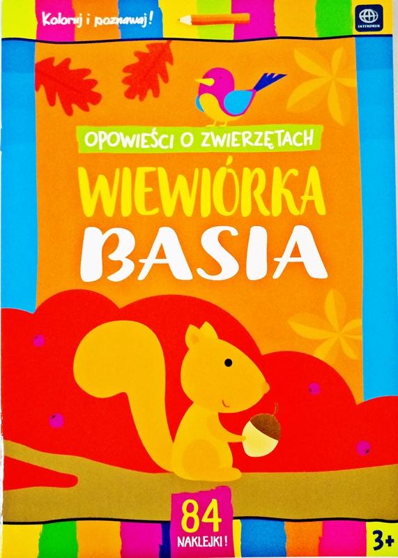 """libro para colorear con pegatinas Interdruk """"Las historias sobre animales"""" ardilla Basia"""