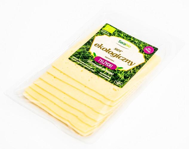 Tylżycki ser żółty ekologiczny Serabio, plastry