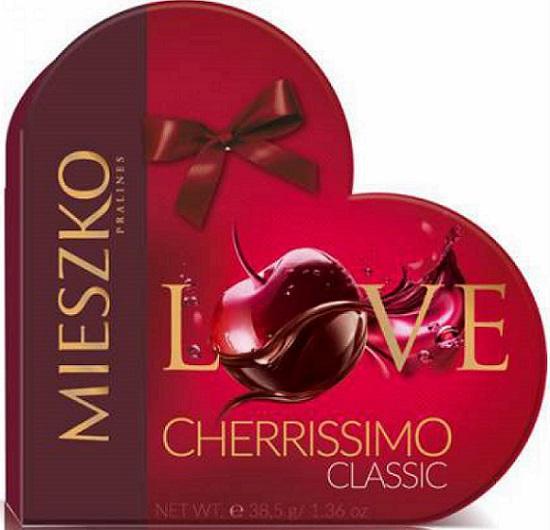 Mieszko Praliny Cherrissimo serce wiśnie w alkoholu