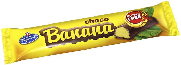 Figaro Pianka o smaku bananowym w czekoladzie, produkt bezglutenowy