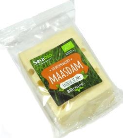 Maasdam ser żółty ekologiczny Serabio, w kawałku