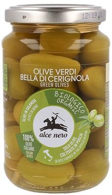 Alce Nero Oliwki Zielone Bella Di Cerignola z pestką w zalewie BIO