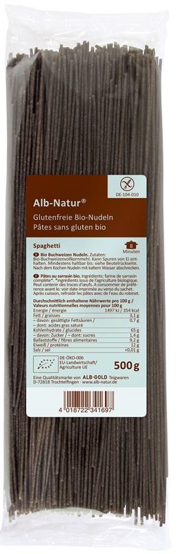 Alb Alb-Gold Natur alforfón fideos espaguetis gluten libre de BIO