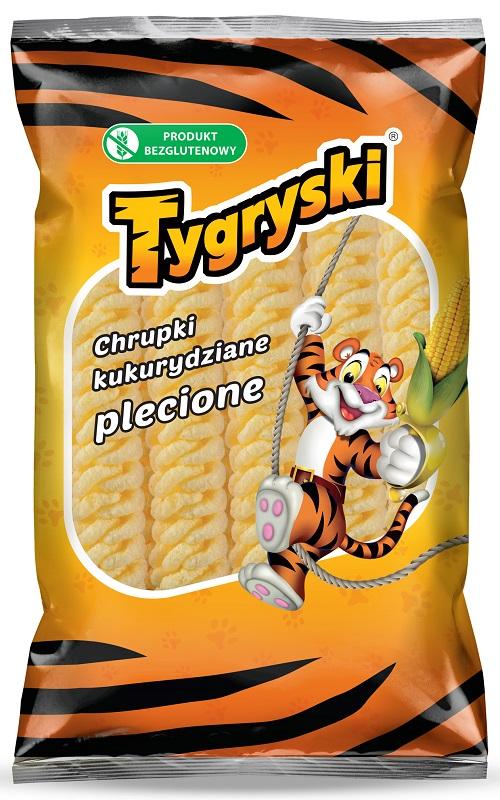 Tygryski chrupki kukurydziane plecione