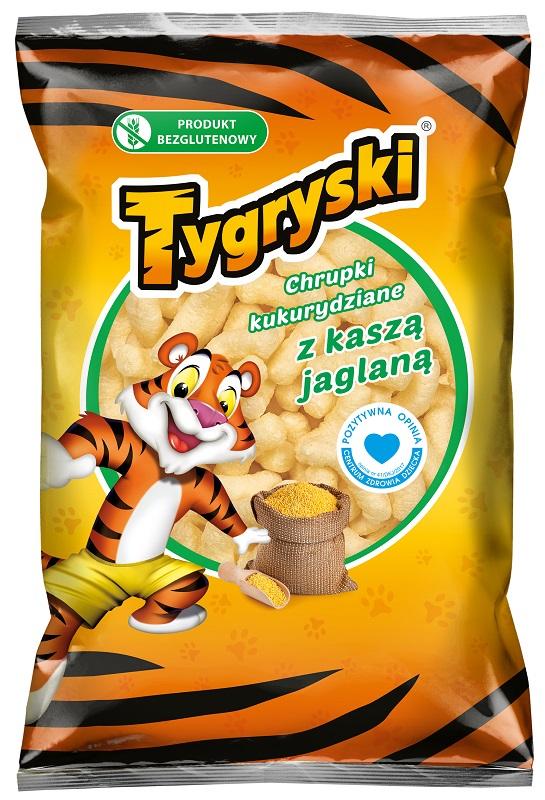 Tigres de maíz crujiente con el mijo