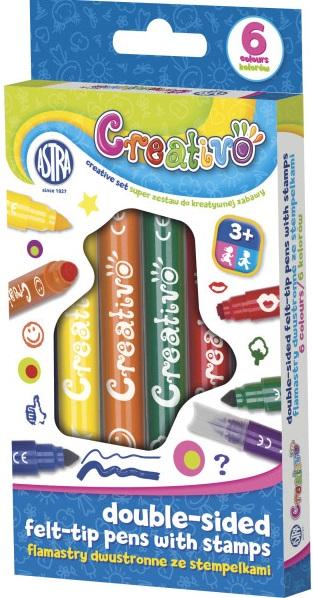 Astra Creativo marcadores se alineó con sellos de 6 colores