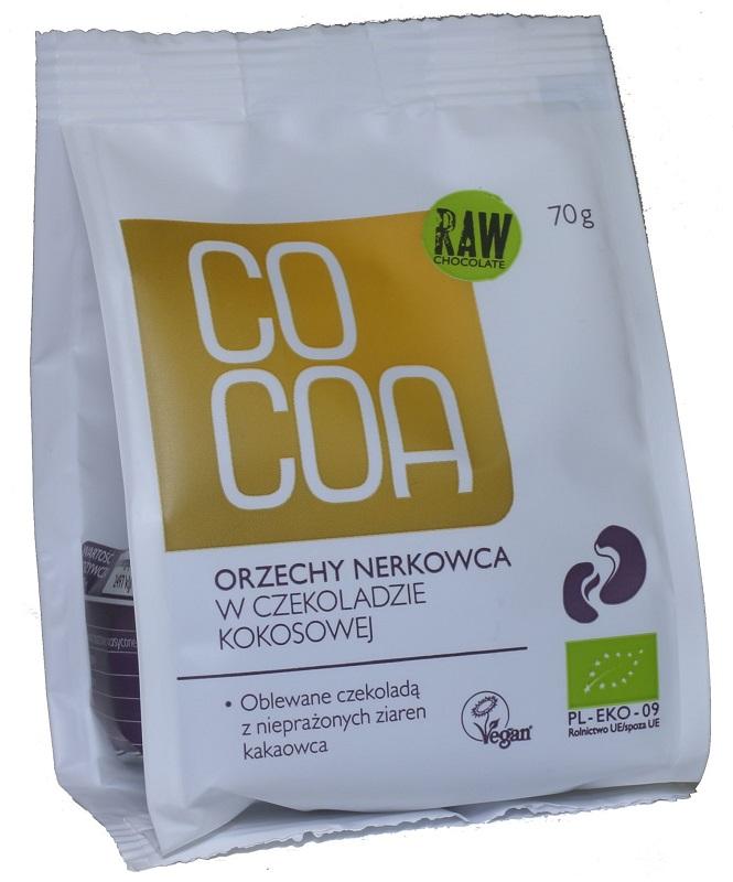 Cocoa Orzechy nerkowca w czekoladzie kokosowej BIO