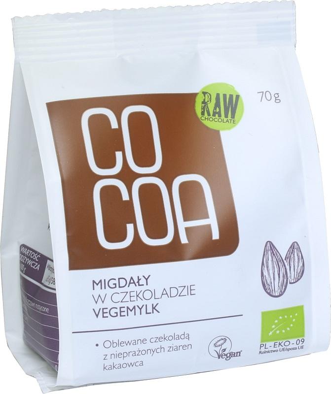 COCOA  Migdały w czekoladzie vegemilk BIO