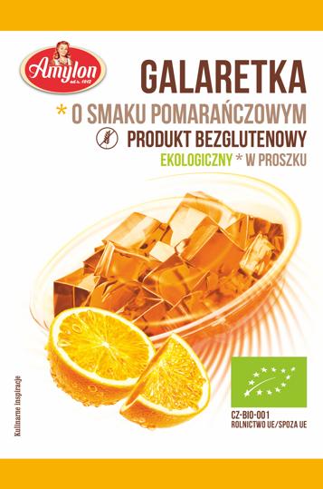 Amylon galaretka o smaku pomarańczowym BIO