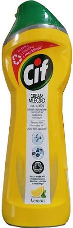 Cif Cream Mleczko do czyszczenia z mikrokryształkami Lemon