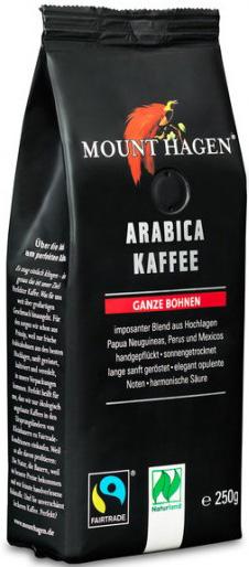 Mount Hagen Kawa ziarnista arabica fair trade BIO