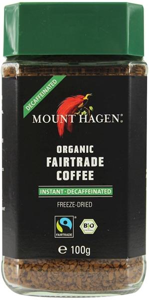 Mount Hagen kawa rozpuszczalna bezkofeinowa arabica/robusta fair trade BIO