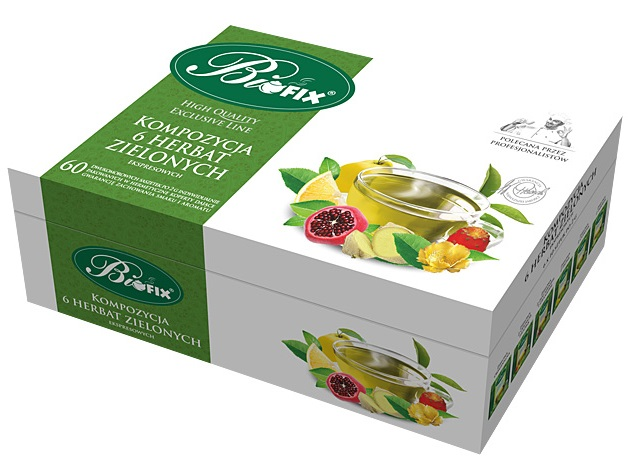 Bifix herbata ekspresowa kompozycja 6 herbat zielonych