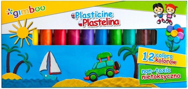 Gimboo Plastelina 12 kolorów nietoksyczna