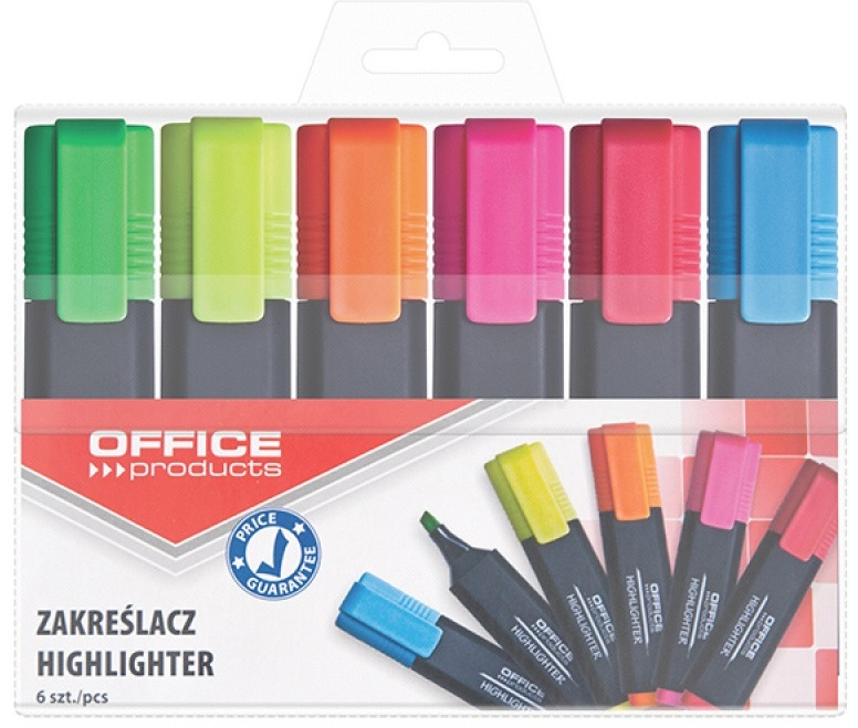 6 colores marcadores de oficina