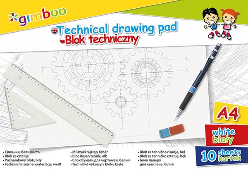 Gimboo Blok techniczny A4 biały
