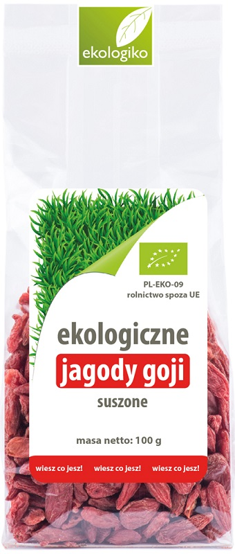 Ekologiko Ekologiczne jagody goji suszone